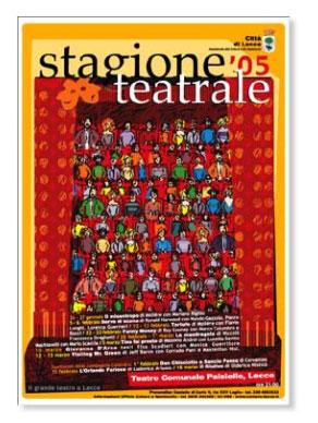 Stagione teatrale città di Lecce 2005 - Manifesto