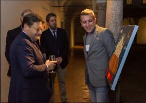 nella foto il presidente di Quanta Maurizio Castro , Efrem Barrotta e io dietro.