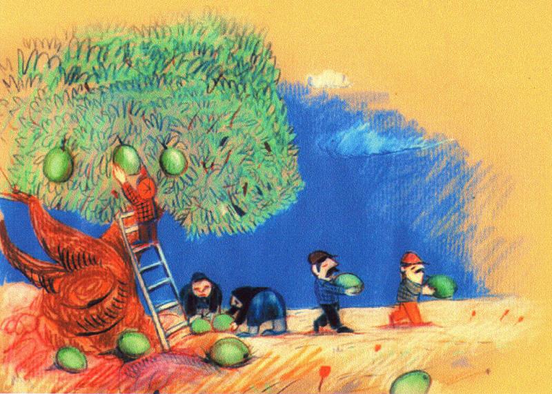 raccolta olive - un popolo di formiche