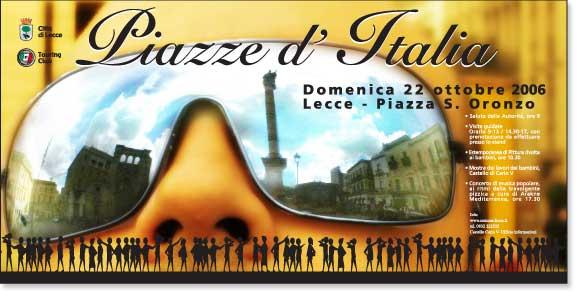 Eventi Città di Lecce: piazze d'Italia 6x3