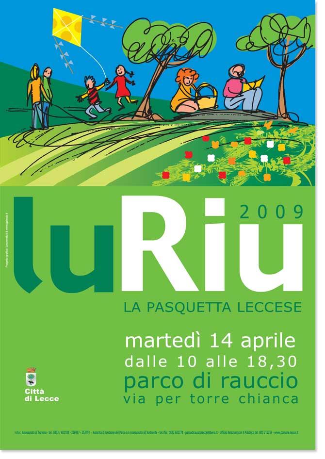 Eventi Città di Lecce lu riu manifesto