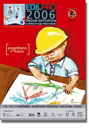 Edil Pro illustrazione e manifesto di Pietro Galeoto
