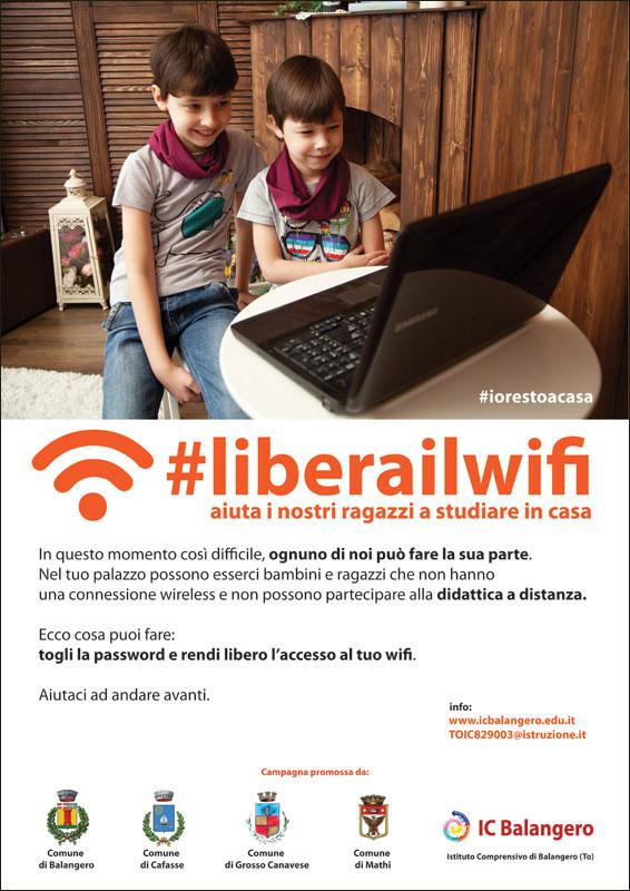 locandina dad #liberailwifi di Pietro Galeoto