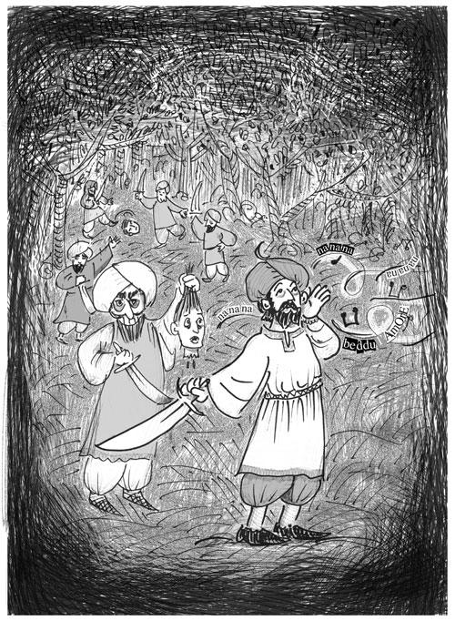 Illustrazioni Pietro Galeoto: AVETRANA/SAN PANCRAZIO SALENTINO - Il cuore spezzato di Cria il traditor