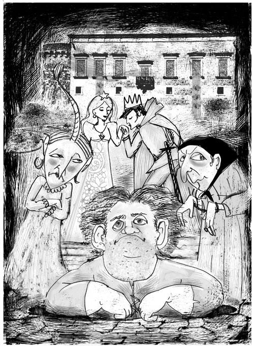Illustrazioni Pietro Galeoto: MARTANO -  Il Nanni Orco e la bambina-stella
